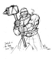 Obelix Redesign - Sketch by rubioric