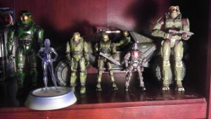 My Halo Figures by spaceman022