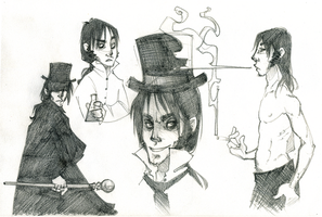 Edward Hyde sketches by AgentDax