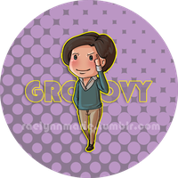 XMen: Groovy Button by RaelynnMarie