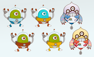 Robits stickers which ones? by SolomonMars
