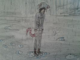 Kitty Left Out in the Rain by little-demons