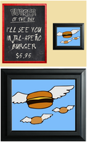 Bob's Burgers Flying Burgers Print by Enlightenup23