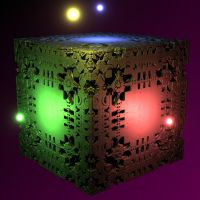 Mandelbox light sources test by KrzysztofMarczak