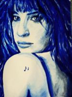 Lea Michele monochrome painting by Diuus