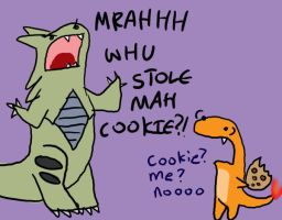Tyranitar's cookie by MasterOfGeckos