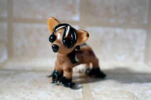 Chinese Crested - Handmade Polymer clay figure by PascalunaOriginals