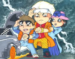 Chibi-Back to the Future. by hedbonstudios
