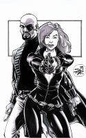Fury and the Widow sketch by RougeDK