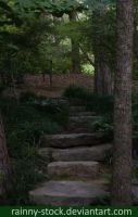Garden Steps - STOCK- by Rainny-Stock