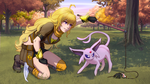 Yang and Espeon by TheRogueSPiDER