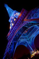 Eiffel Tower Blue by danielgregoire