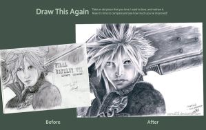 Draw This Again - Cloud Strife by samui153