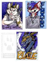 Commission Badges by lady-cybercat