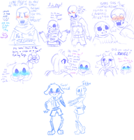 Undertale Sketchpage #2 by PikaIsCool
