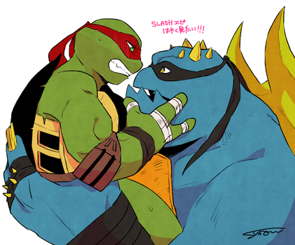 Slash and Raph by Shion-69