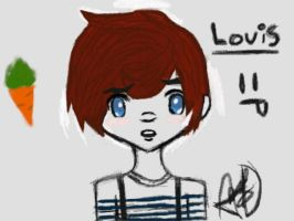 Louis: One Direction by coralinedoll12