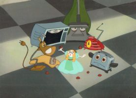 Hand Painted Brave Little Toaster Production cel by AnimationValley