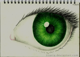 Green Eye by Tivaria