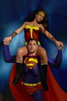 Superman with Wonder Woman by dan457