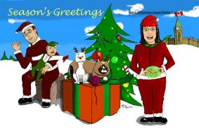 Holiday Card Caricature by M-J-Gagne