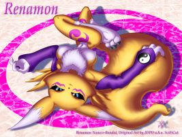 Renamon Layed Back by scificat