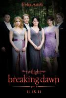 The Cullens At The Wedding Poster by fillesu96