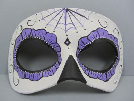 Day of the dead purple spider web mask by maskedzone