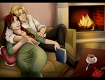 The warmth of the fireplace... by Ciorane