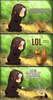Itachi Looses it. Being Weasel by TomasLacerda