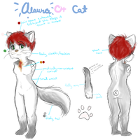 *TEMPORARY* Alaura Reference Sheet by ButterflyColour