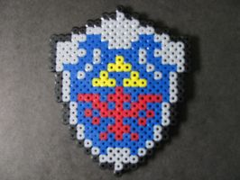 Perler Bead Hylian Shield by EP-380