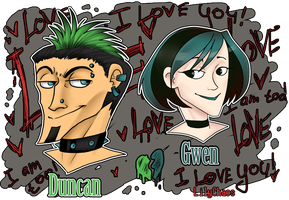 Duncan and Gwen by LilyChaoS