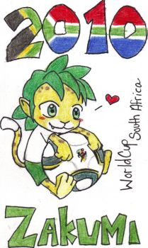 Zakumi the world cup mascot by TeslaMarcia