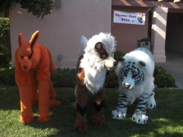 Quadrupeds at SacAnime by wolfforce58