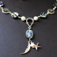 Celestial Abalone Necklace by Gilliauna