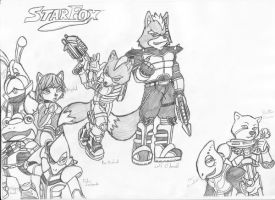 1st attempt of Starfox charact by Heroicjay
