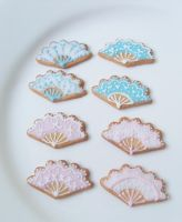 Marie Antoinette Fan Cookies by Snowfern