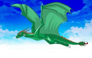 Flying wyvern by Eri-Freak