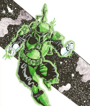 Boba Fett Green Lantern by coyote117