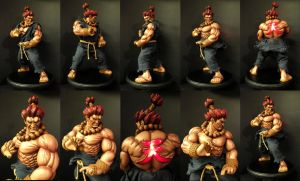 Akuma 1/4 scale mixed media statue by chiseltown