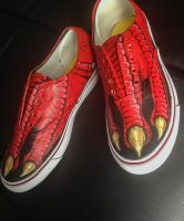 Custom painted dinoshoes 2 by dannyPs-customs