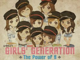 SNSD's Genie Cartoon Wallie by o0someday0o