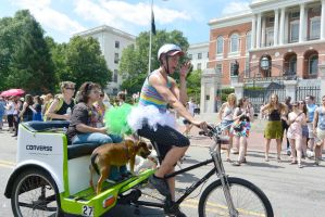 2015 Boston Pride Parade,Pride Ride the Bike Buggy by Miss-Tbones