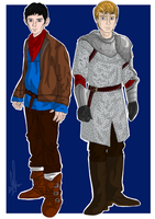 Merlin and Arthur by Maygirl96