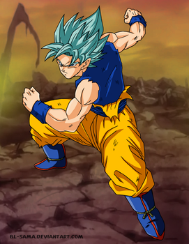 Dragon Ball Super chapter 24 Goku Perfect SS Blue by BL-Sama