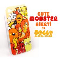 Cute Monster Painted Iphone Case by PoppinCustomArt