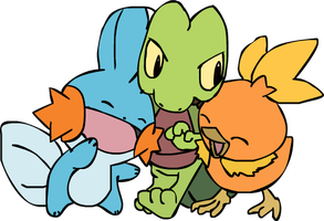 Hoenn Starters by Warrior-Ali