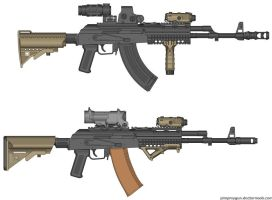 AKM and AK-74 by jmig3