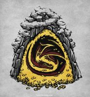 Within the Lonely Mountain [T-shirt] by Versiris